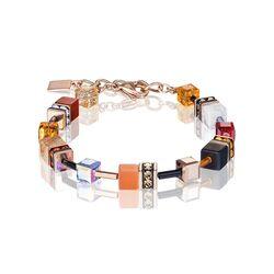 Coeur de Lion armband oranje/ rood 4905-30-0302