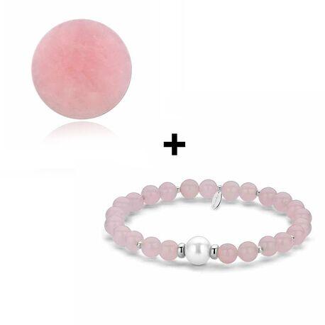 MY iMenso actie roze jade steen met armband van 46 voor 25 euro bij Zilver.nl