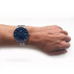 Boccia Titanium herenhorloge donkerblauw 3607-03