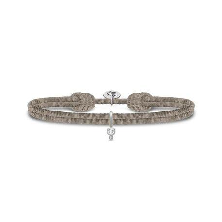 Julie Sandlau grijze Charity armband zilver