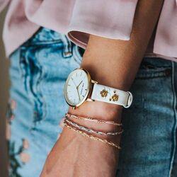 Julie Julsen verguld horloge Blossom Pearl