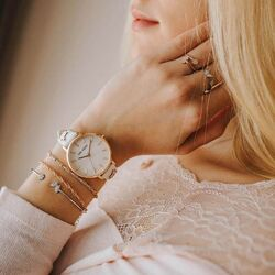 Julie Julsen rosé horloge Pearl Butterfly