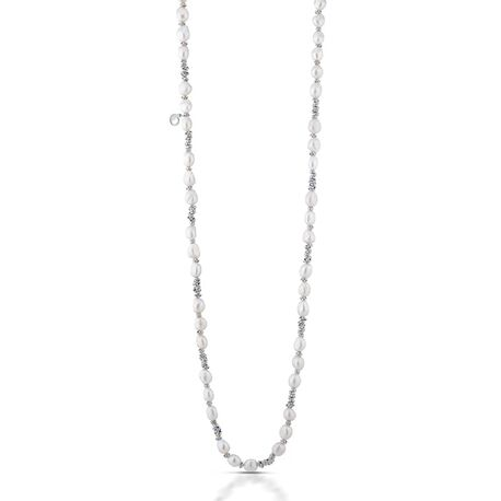 Lelune zilveren parelcollier LGNK190.1