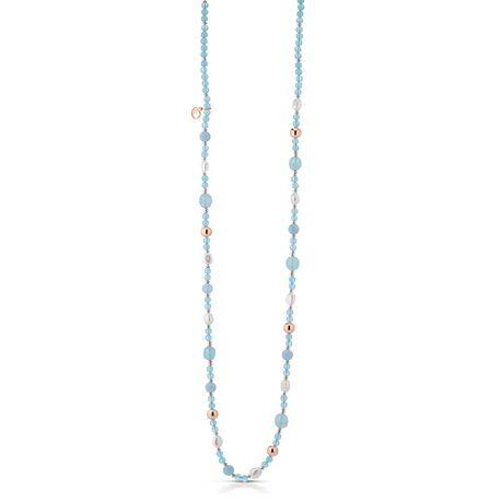 Lelune blauw jade collier 90 cm LGNK204