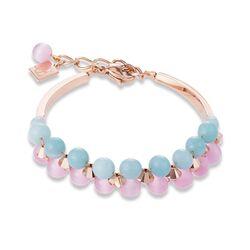 Coeur de Lion armband blauw, roze, rosé 4946-30-1925
