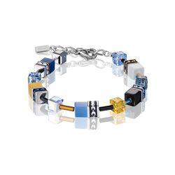 Coeur de Lion armband blauw, geel 2838-30-0701