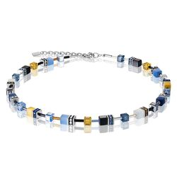 Coeur de Lion collier blauw, geel 2838-10-0701