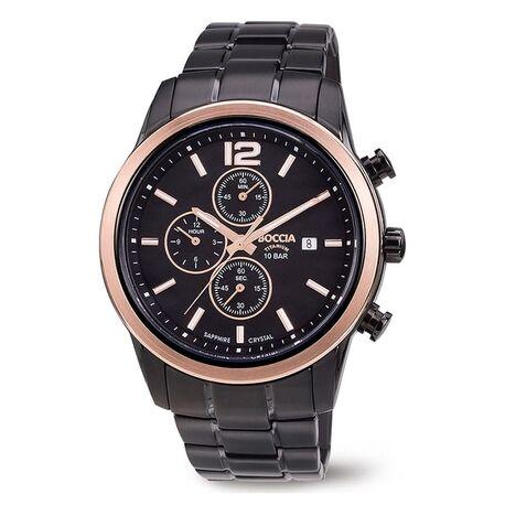 Boccia gezwart titanium horloge 3259-04