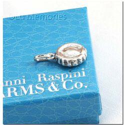 Zilveren bedel taart van Raspini Charms voor bedelarmband