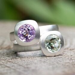 Bastian Inverun zilveren ring paars amethist