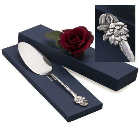antieke zilveren taartschep bloem Gerritsen & Van Kempen