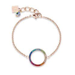 Coeur de Lion armband rosé met kristallen multicolor