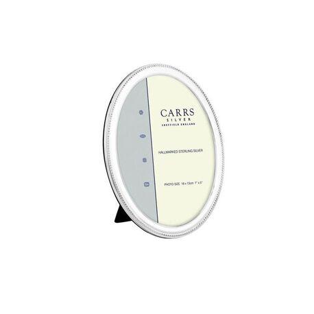 Ovale zilveren fotolijst 9 x 6 cm Carrs nbo2