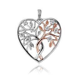 Julie Julsen levensboom hart hanger bicolor