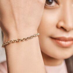 Geelgouden armband met ankerschakels
