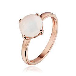 Rosé gouden ring wit maansteen
