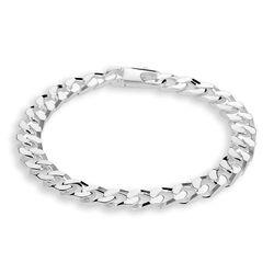 Zilveren gourmet armband 21 cm lang