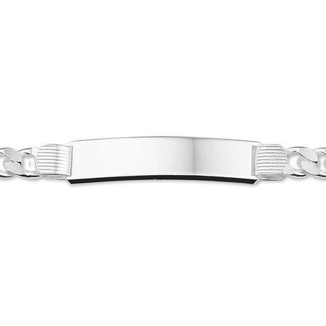 Zilveren naamplaat armband 21 cm lang groot