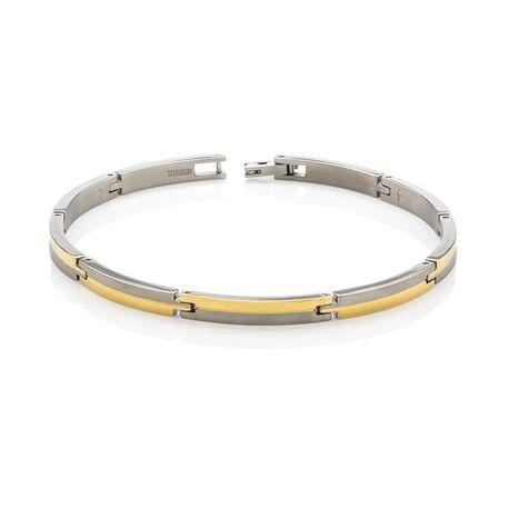 Boccia Bicolor titanium armband 03018-02