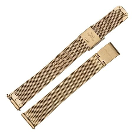 Julie Julsen verguld stalen mesh band 14 mm