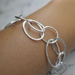Bastian Inverun zilveren armband cirkels 11823