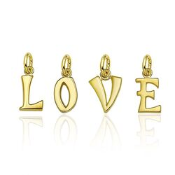 Geelgouden letters LOVE glad