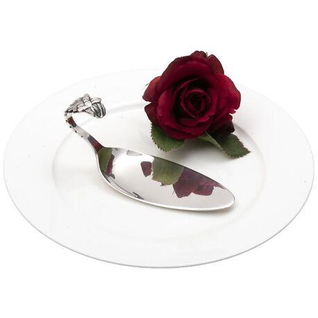 Zilveren taartschep bloem