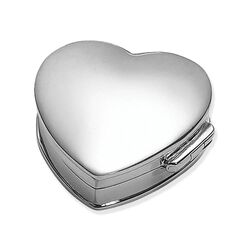 Zilveren doosje hart Carrs NK004-SS
