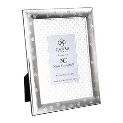 Zilveren fotolijst hartjes Nina Campbell by Carrs Fr294/lNc4