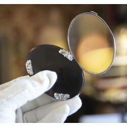 antiek zilver vergrootglas met schildpad gemaakt rond 1800