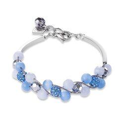 Coeur de Lion armband multirow lichtblauw