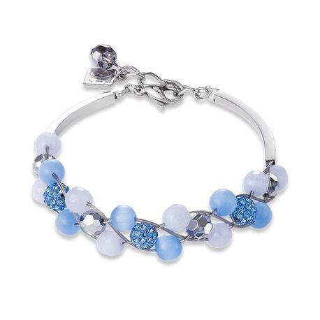 Coeur de Lion armband 4895-30-0720 lichtblauw