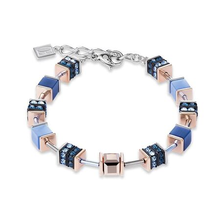 Coeur de Lion armband blauw rosé 4928-30-0700