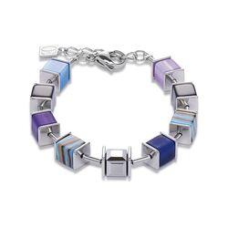 Coeur de Lion armband malachiet blauw lila