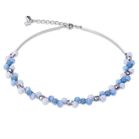 Coeur de Lion collier 4985-10-0720 lichtblauw