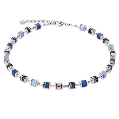 Coeur de Lion collier blauw rosé 4928-10-0700