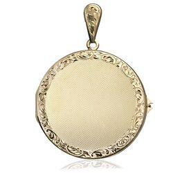 Gouden medaillon rond, occasion
