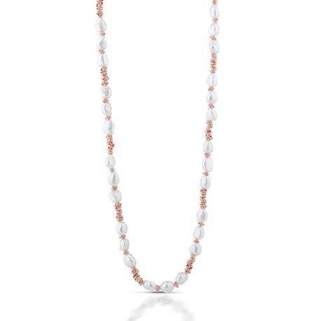Lelune rosé collier met zoetwaterparels 90 cm