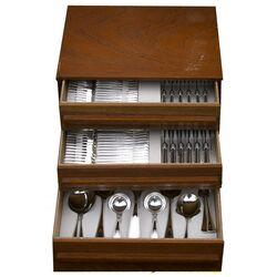 12 Persoons zilver bestek parelrand 1971-72