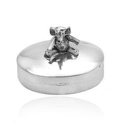 Ovaal zilveren doosje met olifant