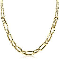 Zinzi verguld zilverne collier met ovale schakels ZIC1804G