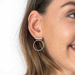 Zinzi oorstekers verguld open cirkel zio1803G