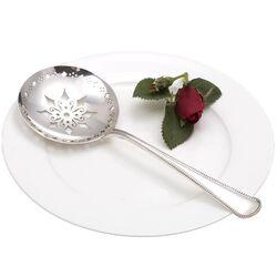 Zilveren natfruitlepel parelrand