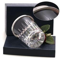 Lepelvaasje kristal met zilver