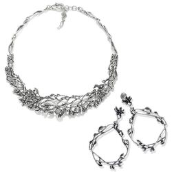 Giovanni Raspini Tree of Life set oorbellen met collier