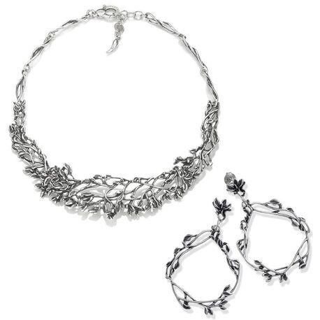 Zilver oorbellen en collier levensboom Tree of Life Raspini