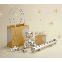 D for Diamond cadeauset kinderbestek met doosjes