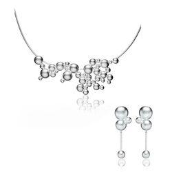 Lapponia sieradenset Winter Pearl collier en oorbellen