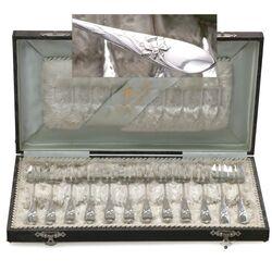 12 Zilveren oestervorken model Narcis 1010