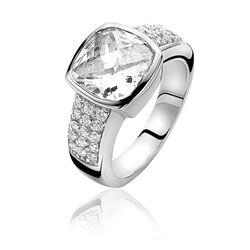 Zinzi zilveren ring zirconia Zir 375